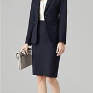 Theory suiting black pencil skirt